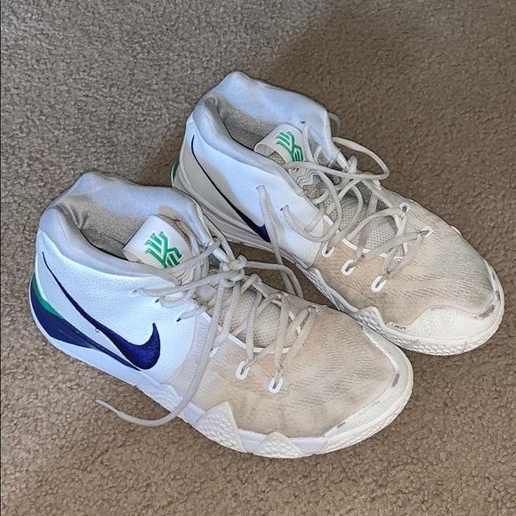 size 40 42045 6ec26 Nike Kyrie 4's - Green/Blue/White